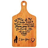 Mothers Day Gifts - Langxun Personalized Engraved Bamboo Cutting Board for Mothers Birthday Gift, Mon and Grandma Gift