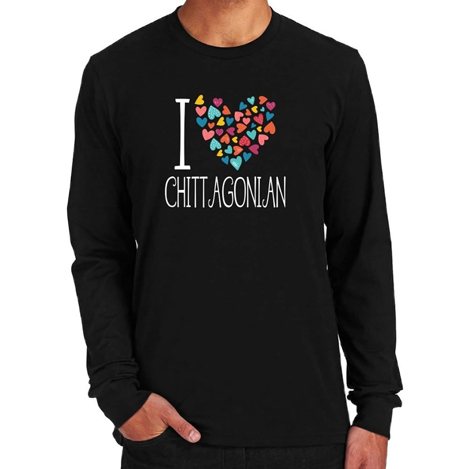 I love Chittagonian colorful hearts Long Sleeve T-Shirt