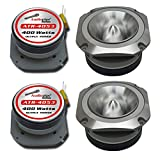 4) Audiopipe ATR-4053 400W 4-8 Ohm Stereo Chrome Aluminum Car Audio Tweeters