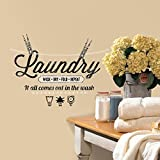 Laundry Room Walls RoomMates RMK2743SCS Laundry Quote Peel and Stick Wall Decals