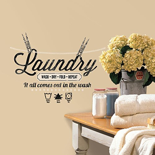 RoomMates RMK2743SCS Laundry Quote Decals product image