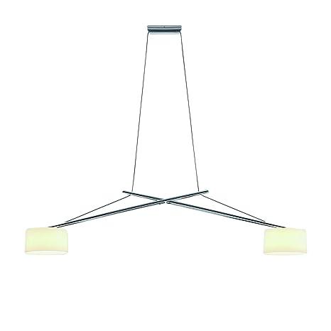 Twin Blanco Cromado de techoOpal Lámpara Aluminio Serien 6b7gvmIyYf