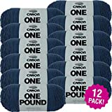 Caron 99550 One Pound Yarn-Ocean, Multipack of 12, Pack