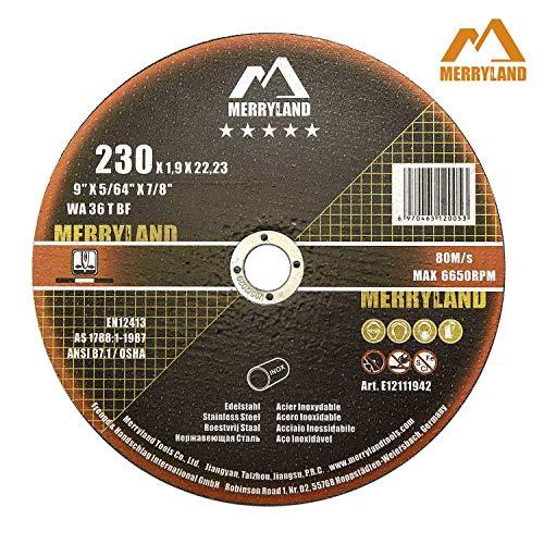 Merryland 9 X 0.075 Expert-line Cut Off Wheel INOX Stainless Metal Iron 25PCS