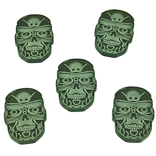 Robot Skull Tokens, Translucent Grey (5) - Skull Tokens