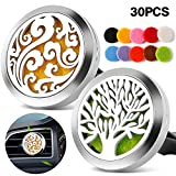 2PCS Car Air Freshener Aromatherapy Essential Oil Diffuser Vent Clip - Cloud, Tree
