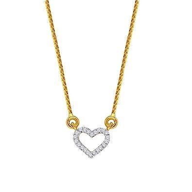 Buy D'damas 18k Yellow Gold Diamond Pendant Online at Low