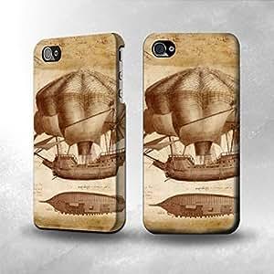 Apple iPhone 4 / 4S Case - The Best 3D Full Wrap iPhone Case - Leonardo da Vinci Ship