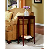 Rosewood Tall End Table, Coffee Brown It Is A Sturdy Option For Many Different Purposes.