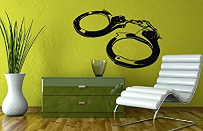 Wall Vinyl Sticker Decal Art Design Police Handcuffs Room Nice Picture Decor Hall Wall Chu255