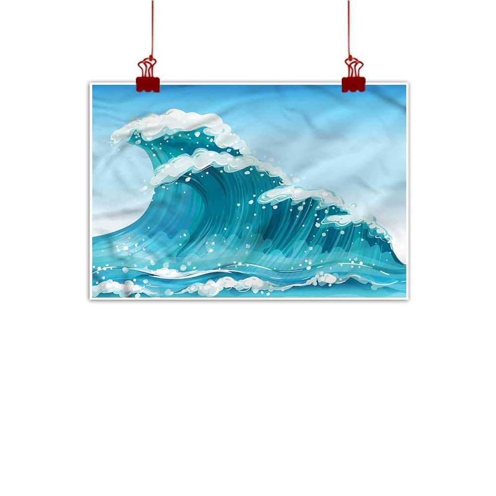 color11 24 x16  (60cm x 40cm) Simple Life Minimalist Wave,Extreme Sportsman Surfer for Bedroom Office Homes Decorations