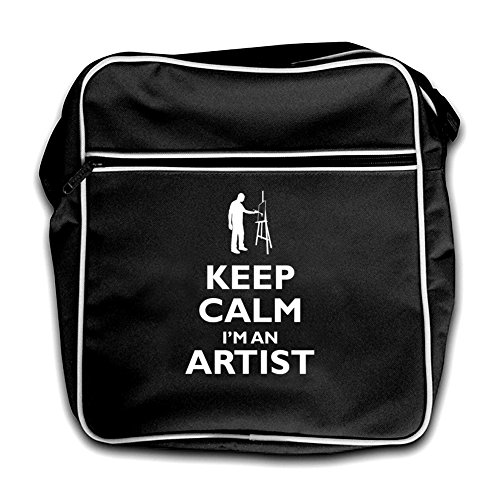 Keep black An Artist Calm I'm Black Flight Bag Retro Arq7A