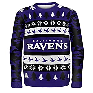 FOCO Baltimore Ravens One Too Many Ugly Sweater Large