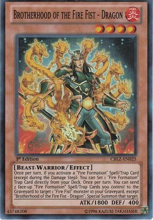 YU-GI-OH BROTHERHOOD OF THE FIRE FIST BEAR SUPER RARE CT10-EN008 LIMITED ED