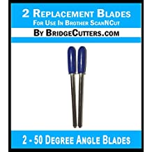 2 Brother ScanNCut Replacement Blades for Craft Cutting Machines, 2 pack standard angle blades works in Scan and cut, scanncut2 with Standard Blade Holder