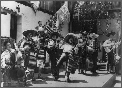 (HistoricalFindings Photo: Orchestra at Del Paseo Restaurant,Santa Barbara,California,CA,Mexican)