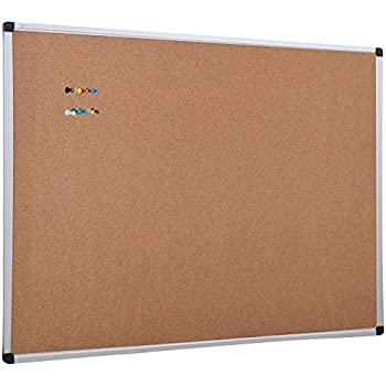 XBoard Wall Mounted Office Cork Board Notice Bulletin Board With Aluminum  Frame, 36 X