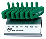 Wiha 36590 Torx Hex Key Set, Wing Handle, 7 Piece