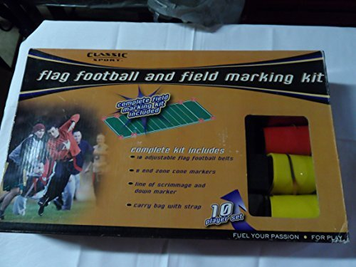 Classic Sport Flag Football And Field Marking Kit 10 Player Set