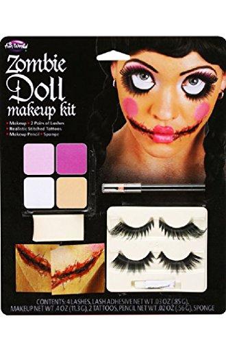 [8eighteen Zombie Doll Face Costume Make-Up Kit] (Ninja Zombie Costumes Child)