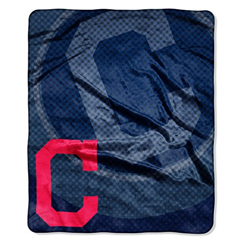 MLB Cleveland Indians Raschel Plush Throw Blanket, Retro Design