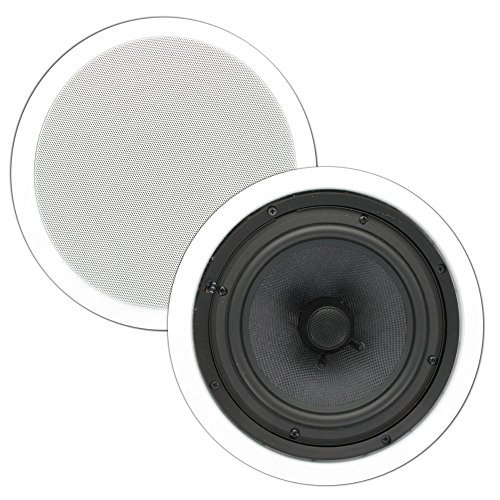 Theater Solutions TSS8C 8-Inch In Ceiling Speakers (White) by Theater Solutions