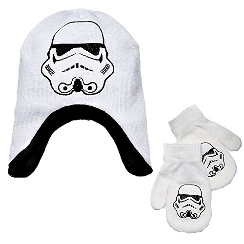 Disney Star Wars Little Boys Storm Trooper Winter Hat & M...