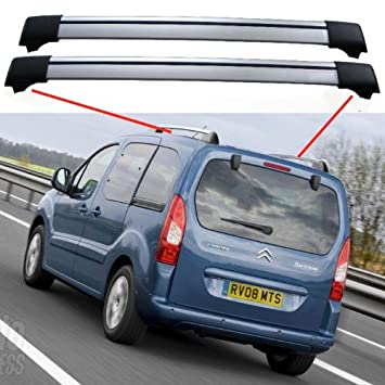 ea12fc5d339a31 CITROEN BERLINGO MULTISPACE 5DR MPV 2008+ AeroBar Bicke Roof rack Cross Bars  spoiler  Amazon.co.uk  Car   Motorbike
