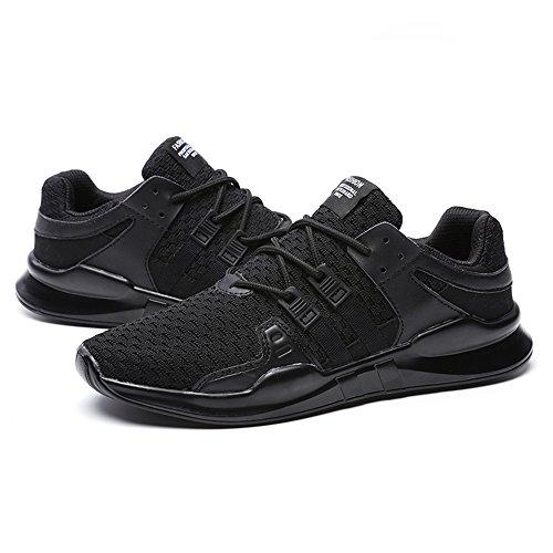 En Air Appartements Paires Respirant Et 44 Chaussures Des Tailles Dentelle Maille Sport Hommes Baskets Noir Entra De neur Xianv 4AZnpx