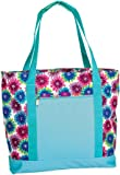Picnic Plus Extra Large 2 In 1 Insulated Cooler Bag with Thermal Foil Section and Water Resistant Section, Perfect for Beach, Pool, Lake, Boating and Shopping, Lido (Blue Blossom)