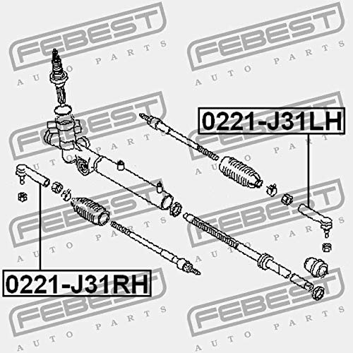 Febest STEERING TIE ROD END LEFT 0221-J31LH