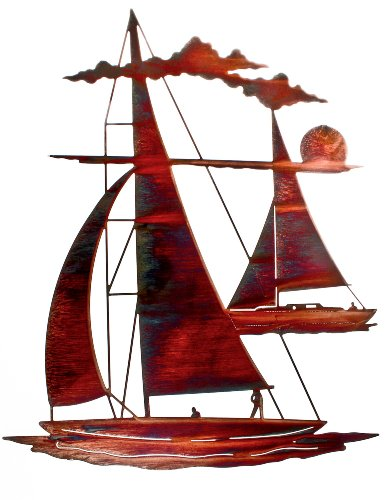 Thirstystone Catch'n Sail Wall Art - boat metal wall art decor