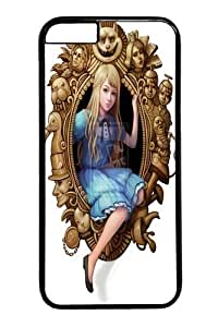 Alice in Wonderland Looking Glass Dra Custom iPhone 6 Plus 5.5 inch Case Cover Polycarbonate Black