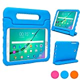 Samsung Galaxy Tab S2 8.0 kids case, COOPER DYNAMO Rugged Heavy Duty Children's Boys Girls Drop Proof Protective Carry Case Cover + Handle, Stand & Screen Protector for SM-T710 T713 T715/C T719N T170 Blue