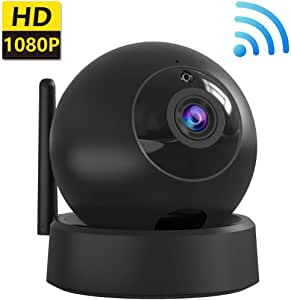 WiFi Home Security IP Camera, Indoor Surveillance Camera, Wireless 1080P Camera for Baby/Elder/Pet/Nanny Monitor, Pan/Tilt, Two-Way Audio & Night Vision