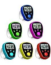 Zihui Contatore delle Dita Contatore Elettronico Contagiri Contatore di File Elettronico Utile Indicatore di Cifre per Dito Contatore di Conteggio LCD Consegna Casuale A Colori