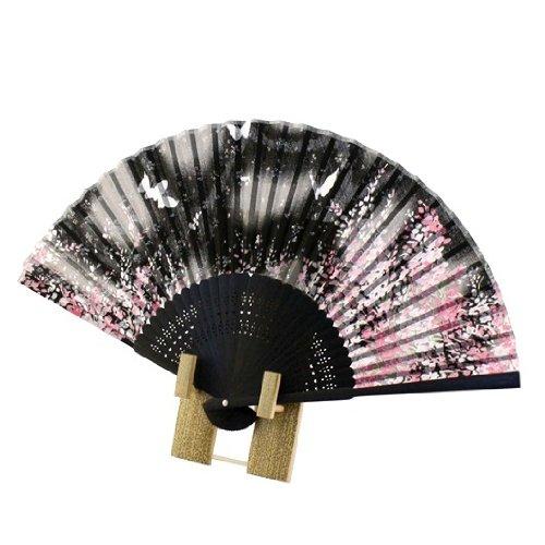 [해외]부채 벚꽃 ? 나비 검정 / Folding fan SakuraButterfly Black