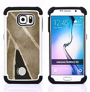 For Samsung Galaxy S6 G9200 - Modern Art Painting Door Knub Watercolor /[Hybrid 3 en 1 Impacto resistente a prueba de golpes de protecci????n] de silicona y pl????stico Def/ - Super Marley Shop -