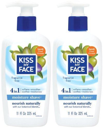 Kiss My Face Vitamin Enriched Moisture Shave with Essential Oils, Fragrance Free - 11 oz - 2 pk by Kiss My ()