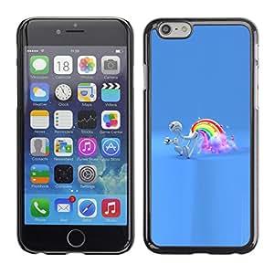 MOBMART Slim Sleek Hard Back Case Cover Armor Shell FOR Apple iPhone 6 PLUS / 6S PLUS 5.5 - Rainbow Fart
