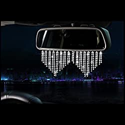 Bling Rhinestone Crystal Rear View Mirror Ornament