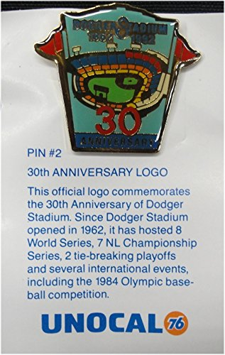 1 Pin - 30th Anniversary Logo - Los Angeles Dodgers Unocal 76 Pin ()