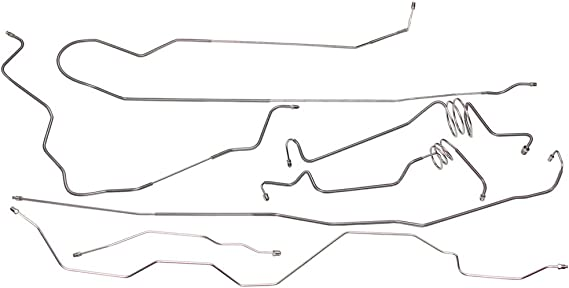 Pre-Box Z-A-32 Compatible With 1999-2003 Ford F250 F350 Power Disc Ext Cab Short 4wd Brake Line Set Rear ABS SS