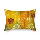 Pillow Covers Of Flower 12 X 20 Inches / 30 By 50 Cm Best Fit For Study Room Bench Couch Car Birthday Kids Boys Two Sides