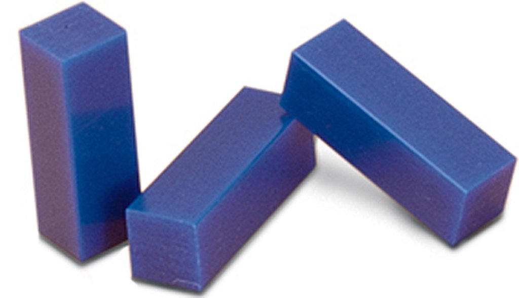Casting Wax Ferris File A Wax Bars Pack Of 3 X 1/6 Lb Blue 21.300-1