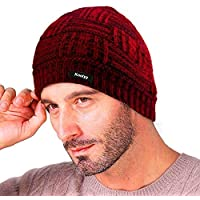 Knotyy Blood Red Woolen Women's/Men's Beanie (Knty-Cap-C16_Free Size)
