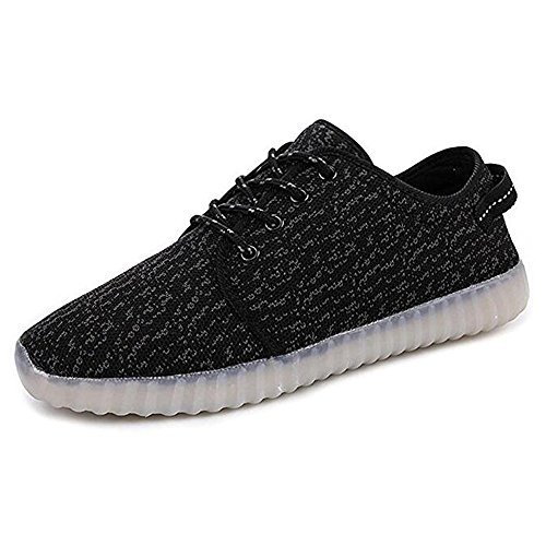 Image of wuage Kids Boys Girls Multi-Color LED Light 7 Color USB Charging Sneakers Flashing Shoes