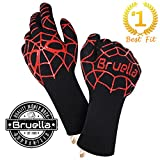 Image of Bruella BBQ Gloves - Grill Gloves | A+ Military Grade Kevlar Heat Resistant Gloves | Grilling Accessories with FormFIT Technology | Heat Gloves Certified by EN407 at 932°F