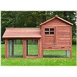 Zooprimus Kaninchenstall 15 Hasenkäfig - HASENBURG - Stall für Außenbereich (für Kleintiere: Hasen, Kaninchen, Meerschweinchen usw.)