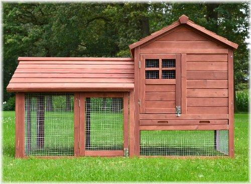 """ZooPrimus Kleintier-Stall Nr 15 Kaninchen-Käfig """"HASENBURG"""" Meerschweinchen-Haus für Außenbereich (Geeignet für Kleintiere: Hasen, Kaninchen, Meerschweinchen usw.)"""